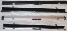 "ROSETTA SUPERIOR 48"" ALUMINIUM 3/4 SNOOKER BILLIARD POOL TABLE CUE CASE, LOCKS"